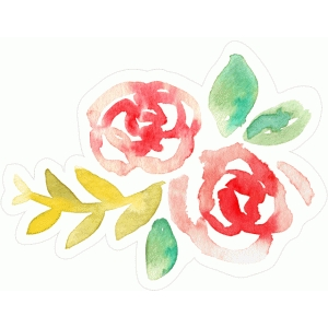 watercolor flower embellishment