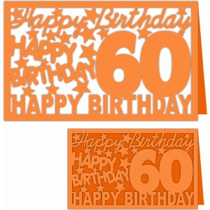 happy birthday 60 years card