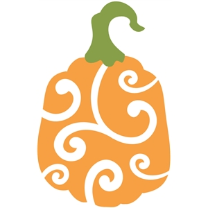 2 piece pumpkin with swirl