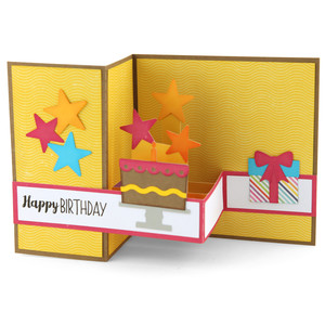 pop up box card birthday cake