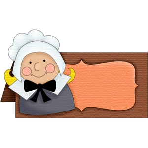 pilgrim girl placecard