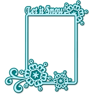 'let it snow' frame