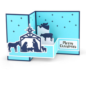 pop up box card christmas nativity