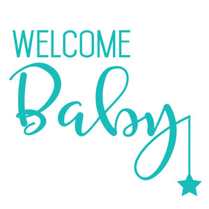 silhouette design store view design 155032 welcome baby star quote
