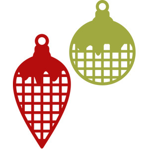 christmas ornament plaid tag