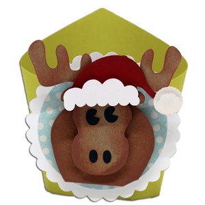 santa moose wrap box