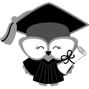 graduation owl girl - hats off!