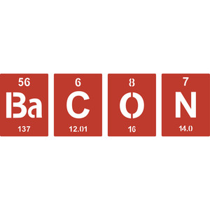 periodic table bacon