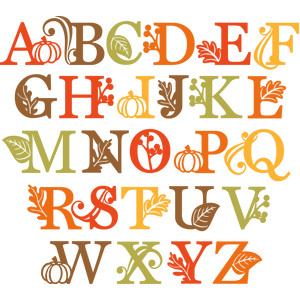 fall uppercase monograms