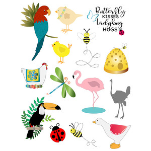 flying critters planner stickers