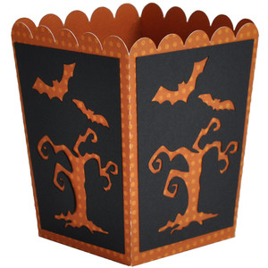 halloween popcorn treat box