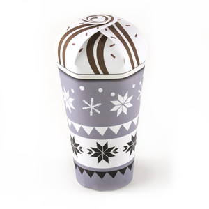 grey snowflake hot chocolate cup