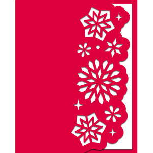 christmas snowflakes border edge card