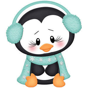 penguins with earmuffs