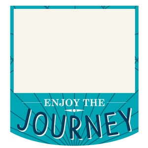 enjoy the journey label