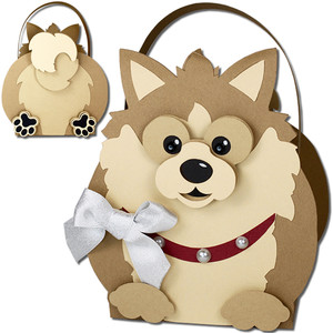 pomeranian dog basket