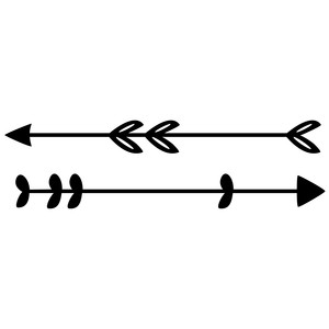 2 cute drawn arrows