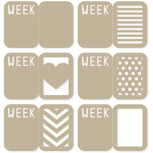 divided 'week' 4x6 life cards