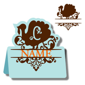 monogram place card & nameplate - turkey c