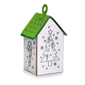 ml coloring house ornament - christmastree