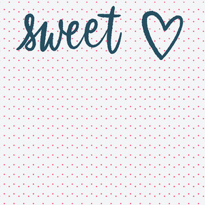 2x2 sweet heart card