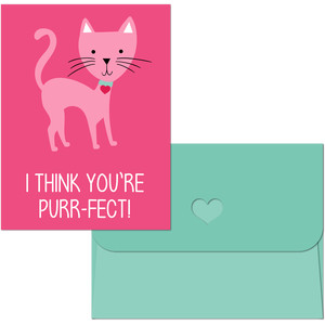 valentine print and cut cat