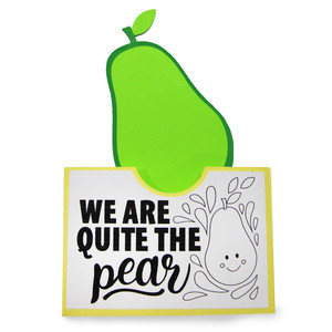 pocket coloring card - we are quite the pear
