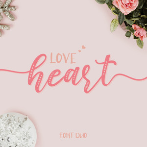 love heart font duo