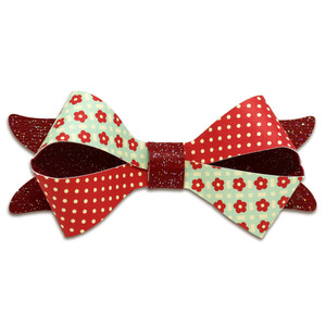 two toned fold over bow
