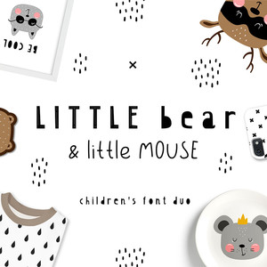 little bear & little mouse duo