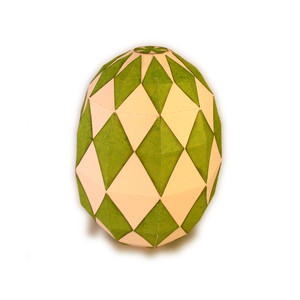 egg 3d form multi diamonds
