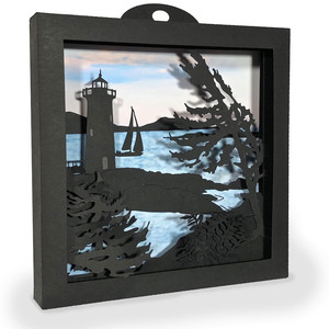 lighthouse shadow box