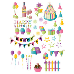 birthday party planner stickers