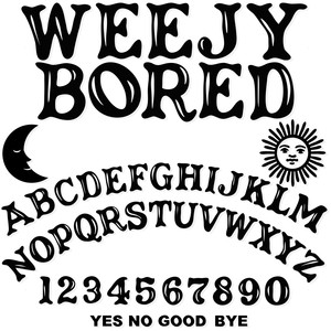 sg weejy bored font