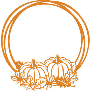 fall harvest pumpkin frame