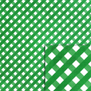 green gingham background paper