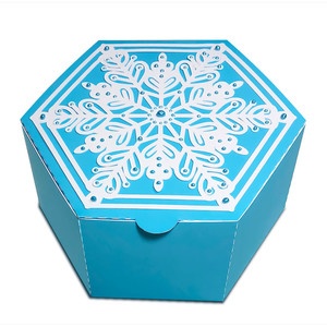 christmas gift box with snowflake