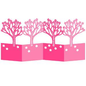 cherry blossom tree accordion card