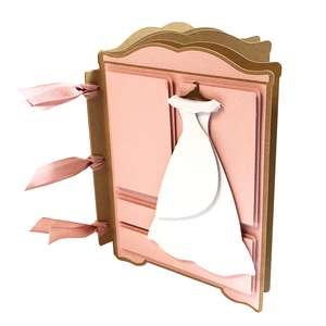 dress bride mini album