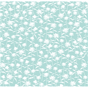 coneflower pattern wedgewood blue
