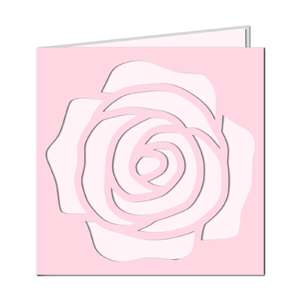 large rose cut out card