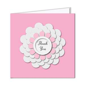 3d flower card - thank you