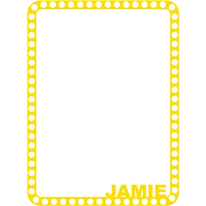 jamie frame yellow