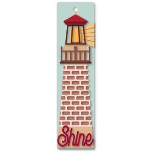 lighthouse shine bookmark 2x8