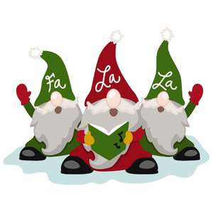 gnome christmas carolers