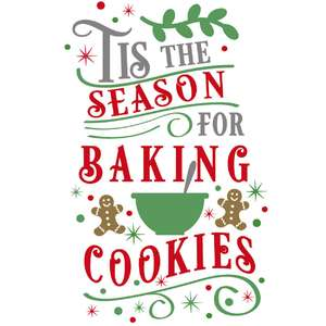 tis season baking cookies