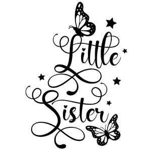 little sister butterfly quote
