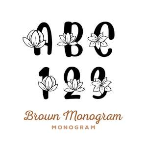 brown monogram