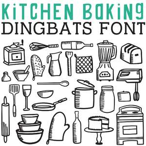 cg kitchen baking lovely dingbats