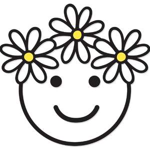 flower crown smiley face